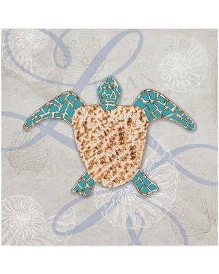 """Trademark Fine Art 'Turtle Texture' Graphic Art Print on Wrapped Canvas ALI23826-C Size: 18"""" H x 18"""" W x 2"""" D"""