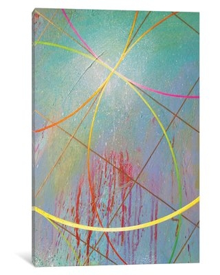 """'Gravity Suite V' Painting Print on Canvas East Urban Home Size: 12"""" H x 18"""" W x 0.75"""" D"""