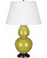 Robert Abbey Citron Ceramic and Bronze Large Table Lamp