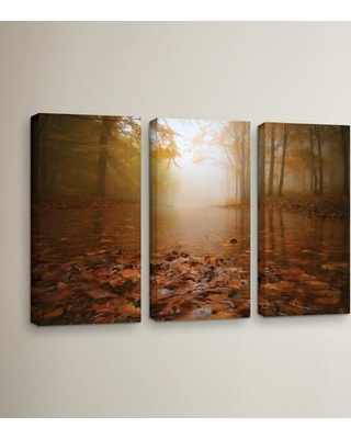 """Loon Peak Autumn Mood 3 Piece Photographic Print on Wrapped Canvas Set LOON5462 Size: 24"""" H x 36"""" W x 2"""" D"""