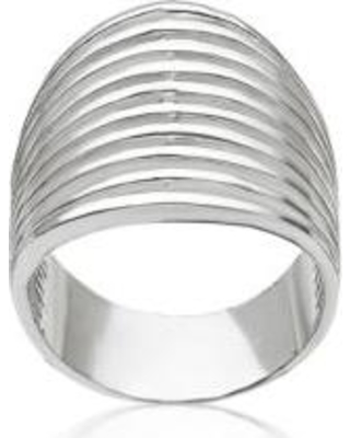 Belk & Co. Silver Sterling Silver Wide Ribbed Ring
