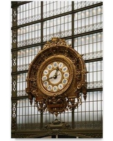 "Trademark Art 'Paris Clock 1' Photographic Print on Wrapped Canvas ALI20578-C Size: 47"" H x 30"" W"