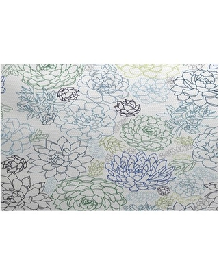 Simply Daisy, Opal, Floral Print Indoor/Outdoor Rug