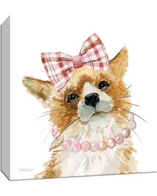 15 in. x 15 in. ''Glamour Girls Fox'' By PTM Images Canvas Wall Art, Multicolored