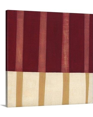 "Great Big Canvas 'Broken Stripes IV' Laura Nugent Painting Print 2198200_ Size: 8"" H x 8"" W x 1.5"" D Format: Canvas"