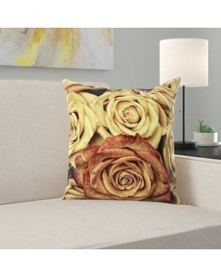 East Urban Home Roses Throw Pillow W000847485