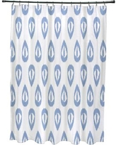 Mistana Bridgehampton Ikat Tears Geometric Print Shower Curtain MTNA2891 Color: Blue