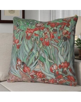 Red Barrel Studio Morley Concealed Irises Euro Pillow RDBT2445 Color: Red