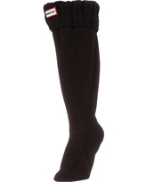 Hunter Women's Original 6 Stitch Cable Tall Boot Sock - Large - Black