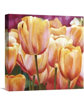 "Global Gallery 'Spring Tulips I' by Luca Villa Painting Print on Wrapped Canvas GCS-375193-2424-142 / GCS-375193-3636-142 Size: 18"" H x 18"" W x 1.5"" D"