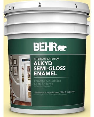BEHR 5 gal. #P310-3 Firefly Urethane Alkyd Semi-Gloss Enamel Interior/Exterior Paint