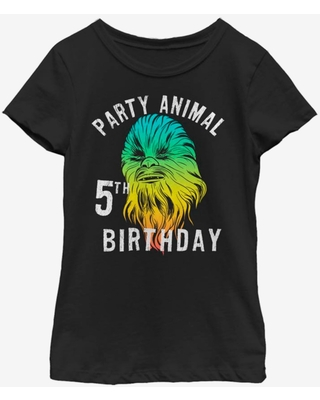 Star Wars Chewie Birthday Five Youth Girls T-Shirt