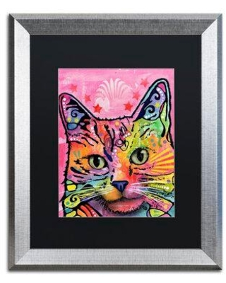 """Trademark Fine Art 'Beast' Matted Framed Print on Canvas on Canvas ALI1652-S1114BMF / ALI1652-S1620BMF Size: 14"""" H x 11"""" W x 0.5"""" D"""