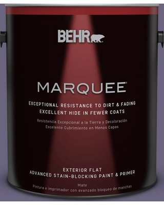 BEHR MARQUEE 1 gal. #650F-6 Victorian Iris Flat Exterior Paint and Primer in One