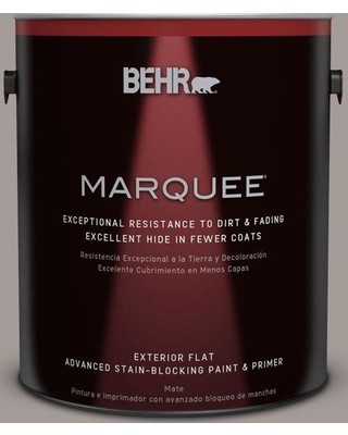 BEHR MARQUEE 1 gal. #PPU17-12 Smoked Mauve Flat Exterior Paint and Primer in One
