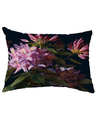 Floral Dream 14x20 Inch Black Floral Print Decorative Outdoor Throw Pillow