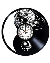 Star Wars Handmade Vinyl Record Wall Clock - Get unique room wall decor - Gift ideas for his and her – Modern Unique Home Art Design