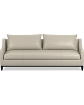 Presidio 94in Sofa with Standard Cushion, Italian Distressed Leather, Ivory