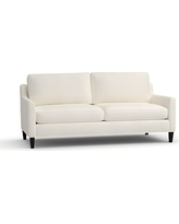 "Beverly Upholstered Sofa 80"", Polyester Wrapped Cushions, Denim Warm White"