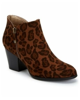 Style & Co Masrinaa Ankle Booties, Created for Macy's - Brown Leopard