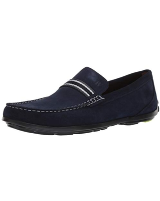 Bostonian Men's Grafton Driver Driving Style Loafer, Navy Suede, 090 M US