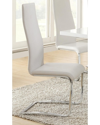 Mix and Match White Dining Chair 100515WHT Set of 4