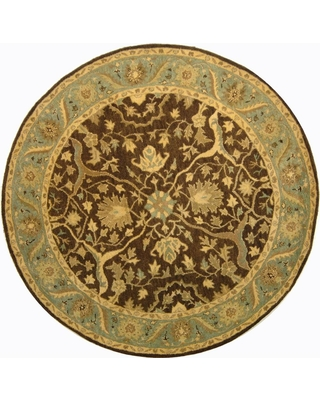 Safavieh Antiquity Brown/Green 6 ft. x 6 ft. Round Area Rug