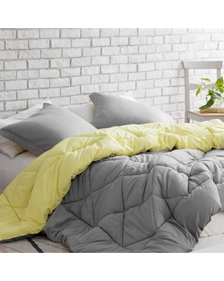 BYB Limelight Yellow/Alloy Reversible Comforter (Twin/Twin XL)