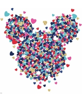 RoomMates Disney Minnie Mouse Heart Confetti Peel and Stick Wall Decals, Multi-Colored