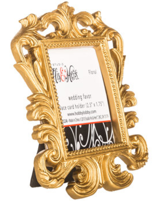 Gold Baroque Place Card Holder