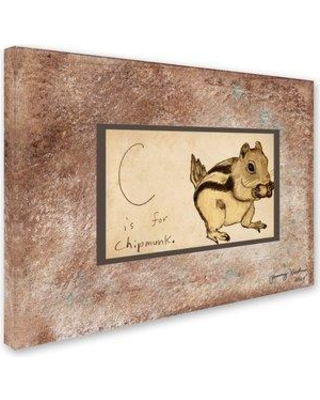 """Winston Porter 'C is For Chipmunk' Graphic Art Print on Wrapped Canvas WNPR6512 Size: 24"""" H x 32"""" W"""