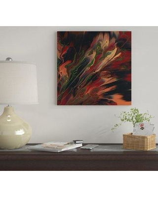 """East Urban Home 'Ebony II' By Cassandra Tondro Graphic Art Print on Wrapped Canvas EUME3051 Size: 26"""" H x 26"""" W x 0.75"""" D"""