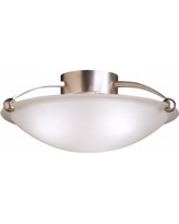 "17"" Wide Traditional Brushed Steel Ceiling Light Fixture"