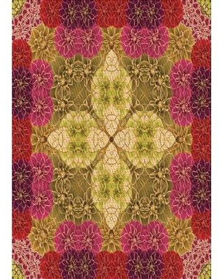 East Urban Home Abstract Wool Orange Area Rug W000742528 Rug Size: Rectangle 4' x 6'