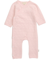 Infant Girl's Burt's Bees Quilted Organic Cotton Romper, Size 6-9M - Pink