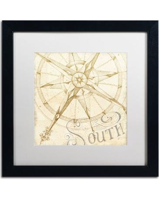 """Breakwater Bay 'Coast to Coast Sepia II' Framed Painting Print BKWT7252 Matte Color: White Size: 16"""" H x 16"""" W"""