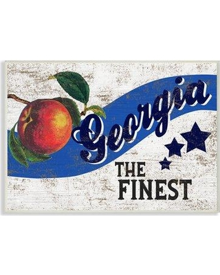"""Winston Porter 'Americana Star Fruit Crate Finest Georgia State' Graphic Art Print W001163693 Format: Wall Plaque Size: 10"""" H x 15"""" W x 0.5"""" D"""