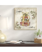 "East Urban Home 'Winter Wishes IV' Graphic Art Print on Canvas ETHH4908 Size: 18"" H x 18"" W"