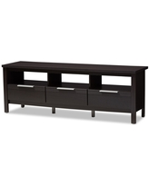 Elaine Modern and Contemporary Finished TV Stand Dark Brown - Baxton Studio