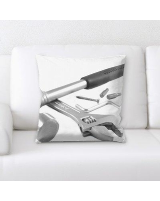 East Urban Home Tools Throw Pillow W000895155