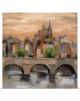 "Great Big Canvas 'Sunset in Paris II' by Silvia Vassileva Painting Print 2219339 Size: 8"" H x 8"" W x 1.5"" D Format: Canvas"