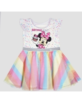 Toddler Girls' Disney Mickey Mouse & Friends Minnie Mouse Birthday Girl Dress - White 18M