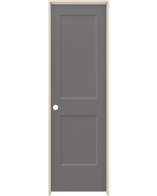 JELD-WEN 24 in. x 80 in. Monroe Weathered Stone Right-Hand Smooth Solid Core Molded Composite MDF Single Prehung Interior Door