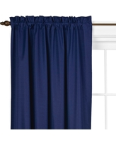 """Braxton Thermaback Light Blocking Curtain Panel Blue (42""""x63"""") - Eclipse"""
