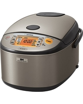 Zojirushi NP-HCC18XH Induction Heating System Rice Cooker and Warmer, 1.8 L, Stainless Dark Gray
