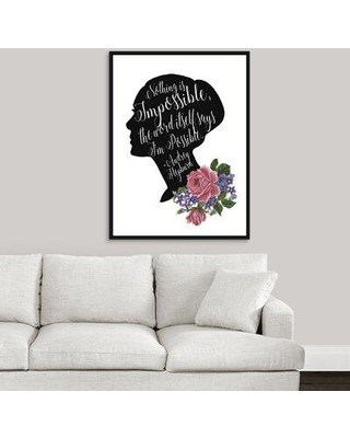 """House of Hampton 'Audrey and Coco I' Textual Art Print on Canvas W001154842 Format: Black Framed Size: 41.7"""" H x 31.7"""" W x 1.75"""" D"""