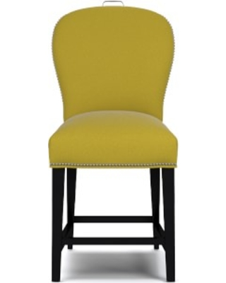 Maxwell Counter Stool with Handle, Signature Velvet, Wasabi