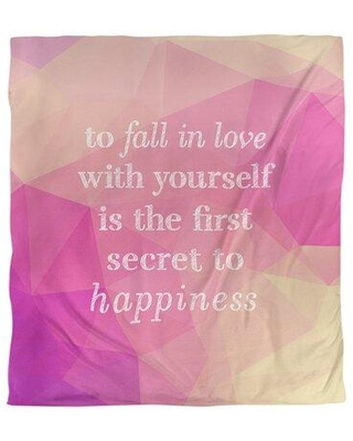 East Urban Home Loving Yourself Quote Single Duvet Cover FCLK5765 Size: King Duvet Cover Color: Pink Diamond