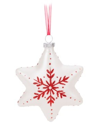 Patterned Snowflake Holiday Shaped Ornament