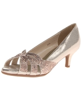 Dyeables Women's Tracy Dress Pump,Champagne Shimmer,9.5 B US